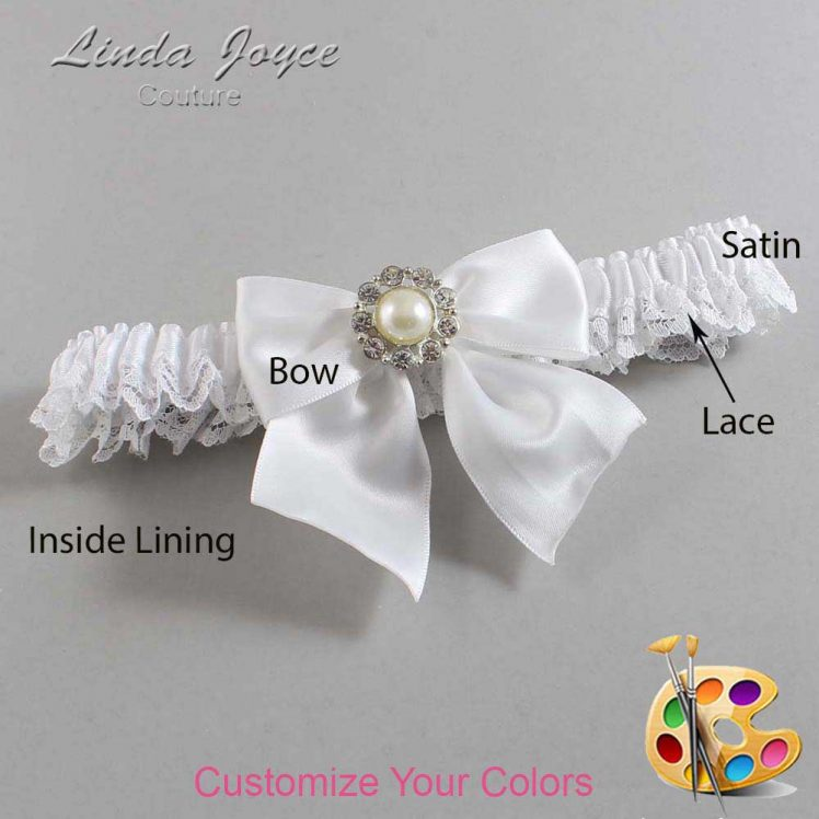 Couture Garters / Custom Wedding Garter / Customizable Wedding Garters / Personalized Wedding Garters / Amanda #09-B01-M24 / Wedding Garters / Bridal Garter / Prom Garter / Linda Joyce Couture
