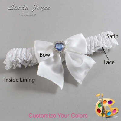 Couture Garters / Custom Wedding Garter / Customizable Wedding Garters / Personalized Wedding Garters / Kittie #09-B01-M25 / Wedding Garters / Bridal Garter / Prom Garter / Linda Joyce Couture