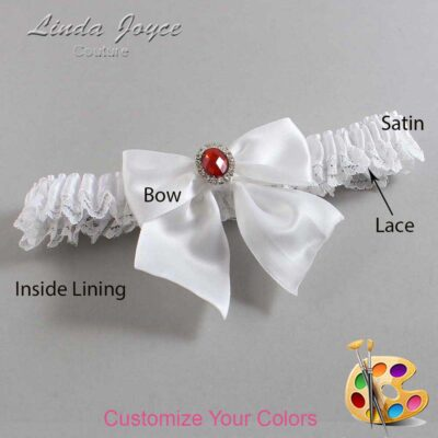 Couture Garters / Custom Wedding Garter / Customizable Wedding Garters / Personalized Wedding Garters / Danita #09-B01-M26 / Wedding Garters / Bridal Garter / Prom Garter / Linda Joyce Couture