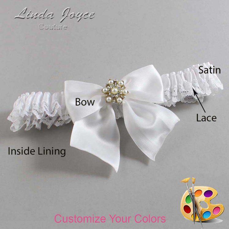 Couture Garters / Custom Wedding Garter / Customizable Wedding Garters / Personalized Wedding Garters / Larissa #09-B01-M27 / Wedding Garters / Bridal Garter / Prom Garter / Linda Joyce Couture