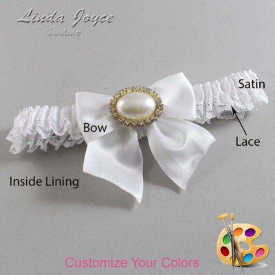 Couture Garters / Custom Wedding Garter / Customizable Wedding Garters / Personalized Wedding Garters / Nicole #09-B01-M28 / Wedding Garters / Bridal Garter / Prom Garter / Linda Joyce Couture