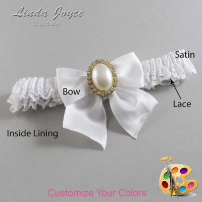 Couture Garters / Custom Wedding Garter / Customizable Wedding Garters / Personalized Wedding Garters / Maggie #09-B01-M29 / Wedding Garters / Bridal Garter / Prom Garter / Linda Joyce Couture