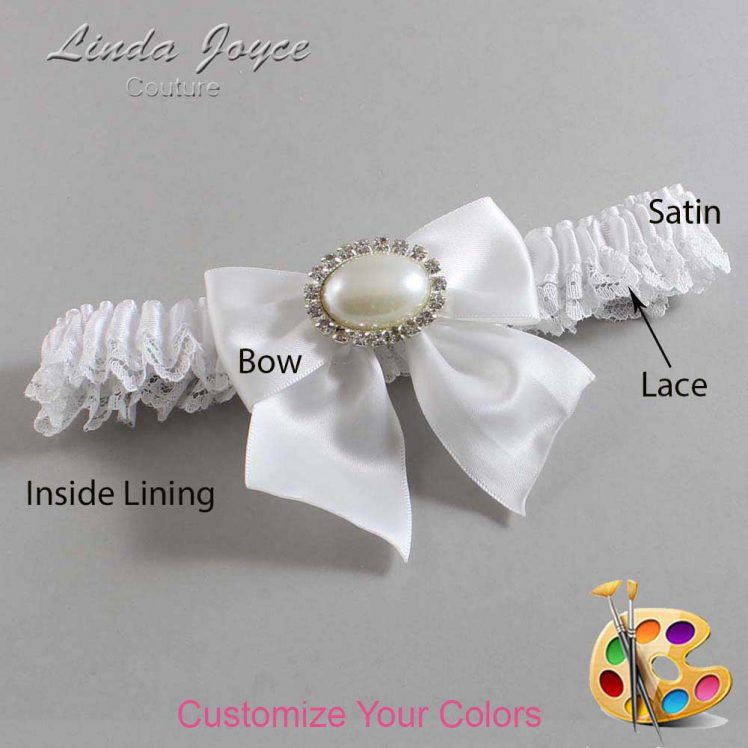 Couture Garters / Custom Wedding Garter / Customizable Wedding Garters / Personalized Wedding Garters / Nicole #09-B01-M30 / Wedding Garters / Bridal Garter / Prom Garter / Linda Joyce Couture