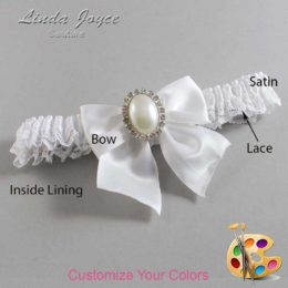 Customizable Wedding Garter / Maggie #09-B01-M31-Silver