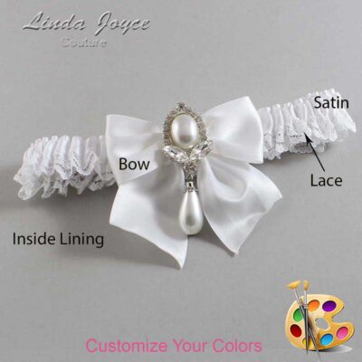 Couture Garters / Custom Wedding Garter / Customizable Wedding Garters / Personalized Wedding Garters / Jessica #09-B01-M32 / Wedding Garters / Bridal Garter / Prom Garter / Linda Joyce Couture