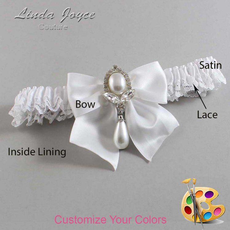 Couture Garters / Custom Wedding Garter / Customizable Wedding Garters / Personalized Wedding Garters / Jessica #09-B01-M32 / Wedding Garters / Bridal Garter / Prom Garter / Linda Joyce Couture