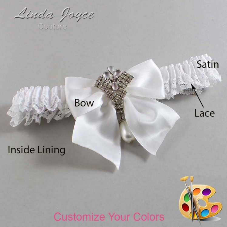 Couture Garters / Custom Wedding Garter / Customizable Wedding Garters / Personalized Wedding Garters / Madeline #09-B01-M33 / Wedding Garters / Bridal Garter / Prom Garter / Linda Joyce Couture