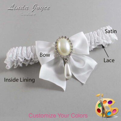 Couture Garters / Custom Wedding Garter / Customizable Wedding Garters / Personalized Wedding Garters / Michaela #09-B01-M35 / Wedding Garters / Bridal Garter / Prom Garter / Linda Joyce Couture