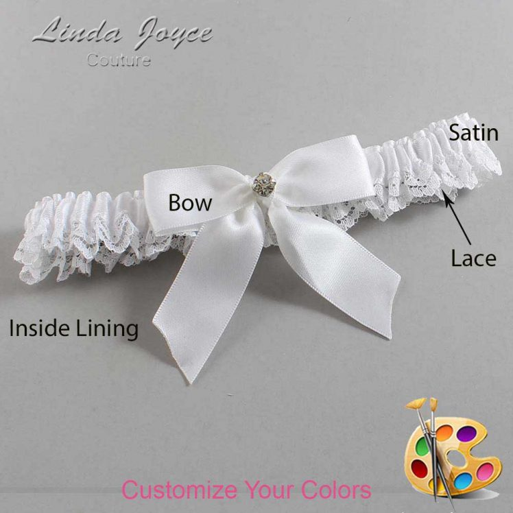 Couture Garters / Custom Wedding Garter / Customizable Wedding Garters / Personalized Wedding Garters / Rylee #09-B02-M03 / Wedding Garters / Bridal Garter / Prom Garter / Linda Joyce Couture