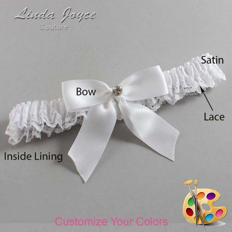 Couture Garters / Custom Wedding Garter / Customizable Wedding Garters / Personalized Wedding Garters / Rylee #09-B02-M04 / Wedding Garters / Bridal Garter / Prom Garter / Linda Joyce Couture