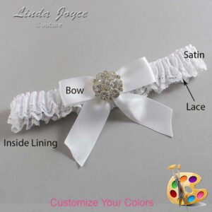 Couture Garters / Custom Wedding Garter / Customizable Wedding Garters / Personalized Wedding Garters / Sarina #09-B02-M11 / Wedding Garters / Bridal Garter / Prom Garter / Linda Joyce Couture