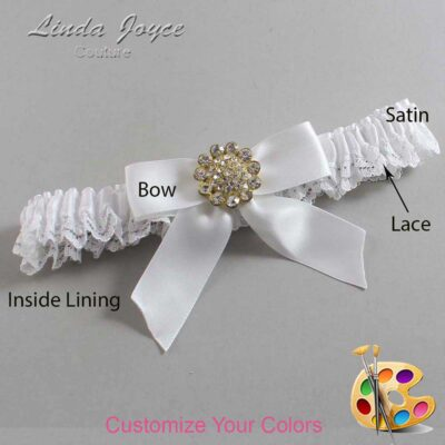 Couture Garters / Custom Wedding Garter / Customizable Wedding Garters / Personalized Wedding Garters / Tamera #09-B02-M12 / Wedding Garters / Bridal Garter / Prom Garter / Linda Joyce Couture