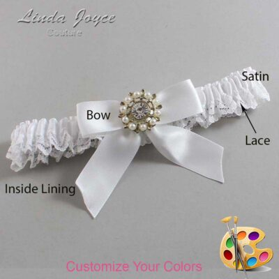Couture Garters / Custom Wedding Garter / Customizable Wedding Garters / Personalized Wedding Garters / Wilma #09-B02-M14 / Wedding Garters / Bridal Garter / Prom Garter / Linda Joyce Couture
