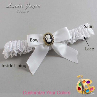 Couture Garters / Custom Wedding Garter / Customizable Wedding Garters / Personalized Wedding Garters / Sherri #09-B02-M15 / Wedding Garters / Bridal Garter / Prom Garter / Linda Joyce Couture