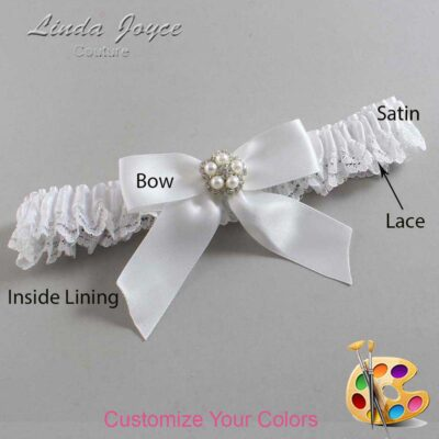 Couture Garters / Custom Wedding Garter / Customizable Wedding Garters / Personalized Wedding Garters / Prudence #09-B02-M20 / Wedding Garters / Bridal Garter / Prom Garter / Linda Joyce Couture