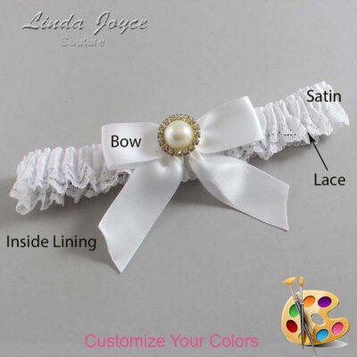 Customizable Wedding Garter / Rubie #09-B02-M21-Gold
