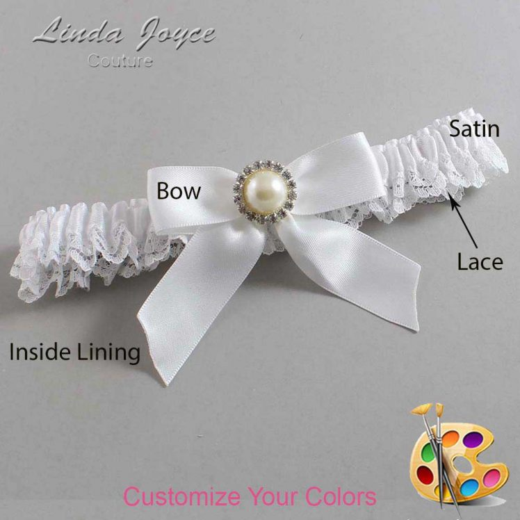 Couture Garters / Custom Wedding Garter / Customizable Wedding Garters / Personalized Wedding Garters / Rubie #09-B02-M22 / Wedding Garters / Bridal Garter / Prom Garter / Linda Joyce Couture