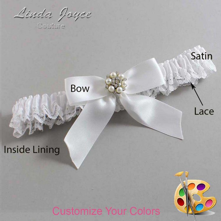 Couture Garters / Custom Wedding Garter / Customizable Wedding Garters / Personalized Wedding Garters / Natasha #09-B02-M23 / Wedding Garters / Bridal Garter / Prom Garter / Linda Joyce Couture