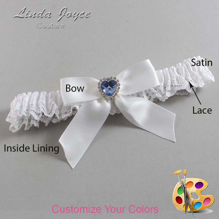 Couture Garters / Custom Wedding Garter / Customizable Wedding Garters / Personalized Wedding Garters / Misty #09-B02-M25 / Wedding Garters / Bridal Garter / Prom Garter / Linda Joyce Couture