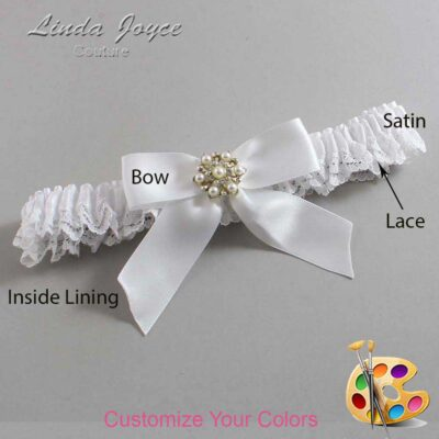 Couture Garters / Custom Wedding Garter / Customizable Wedding Garters / Personalized Wedding Garters / Selina #09-B02-M27 / Wedding Garters / Bridal Garter / Prom Garter / Linda Joyce Couture