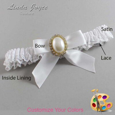 Customizable Wedding Garter / Niki #09-B02-M29-Gold