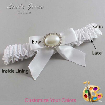 Couture Garters / Custom Wedding Garter / Customizable Wedding Garters / Personalized Wedding Garters / Missy #09-B02-M30 / Wedding Garters / Bridal Garter / Prom Garter / Linda Joyce Couture