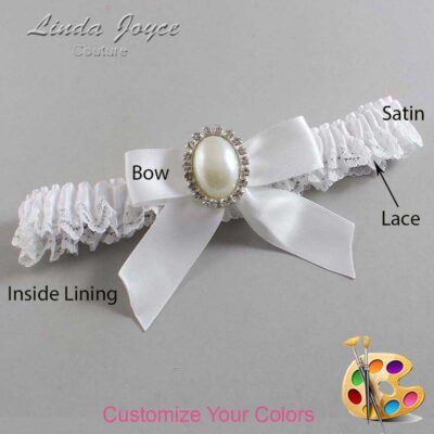 Couture Garters / Custom Wedding Garter / Customizable Wedding Garters / Personalized Wedding Garters / Niki #09-B02-M31 / Wedding Garters / Bridal Garter / Prom Garter / Linda Joyce Couture