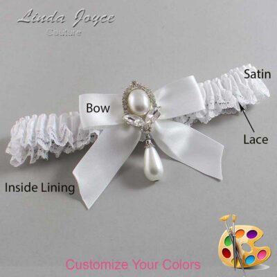 Couture Garters / Custom Wedding Garter / Customizable Wedding Garters / Personalized Wedding Garters / Tessa #09-B02-M32 / Wedding Garters / Bridal Garter / Prom Garter / Linda Joyce Couture