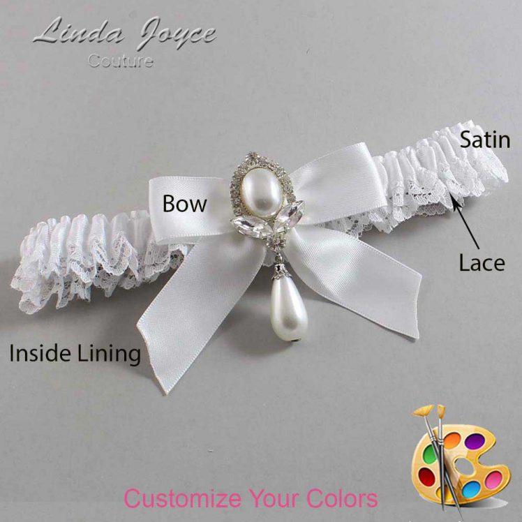 Couture Garters / Custom Wedding Garter / Customizable Wedding Garters / Personalized Wedding Garters / Tessa #09-B02-M32 / Wedding Garters / Bridal Garter / Prom Garter / Linda Joyce Couture