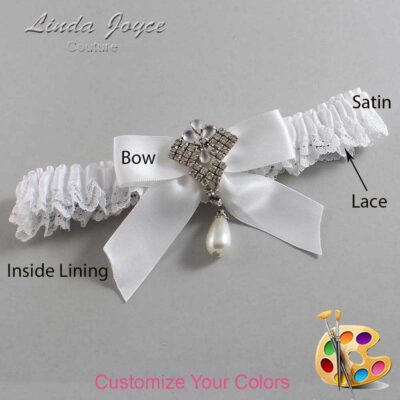 Couture Garters / Custom Wedding Garter / Customizable Wedding Garters / Personalized Wedding Garters / Vera #09-B02-M33 / Wedding Garters / Bridal Garter / Prom Garter / Linda Joyce Couture