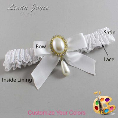 Couture Garters / Custom Wedding Garter / Customizable Wedding Garters / Personalized Wedding Garters / Trina #09-B02-M34 / Wedding Garters / Bridal Garter / Prom Garter / Linda Joyce Couture