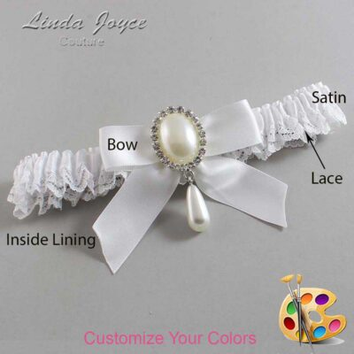 Couture Garters / Custom Wedding Garter / Customizable Wedding Garters / Personalized Wedding Garters / Trina #09-B02-M35 / Wedding Garters / Bridal Garter / Prom Garter / Linda Joyce Couture