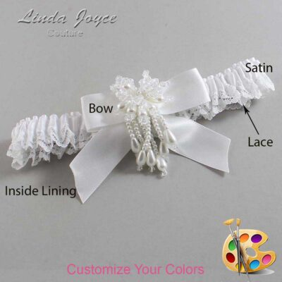 Couture Garters / Custom Wedding Garter / Customizable Wedding Garters / Personalized Wedding Garters / Merlene #09-B02-M38 / Wedding Garters / Bridal Garter / Prom Garter / Linda Joyce Couture
