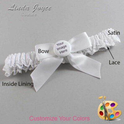 Couture Garters / Custom Wedding Garter / Customizable Wedding Garters / Personalized Wedding Garters / Custom Button #09-B02-M44 / Wedding Garters / Bridal Garter / Prom Garter / Linda Joyce Couture
