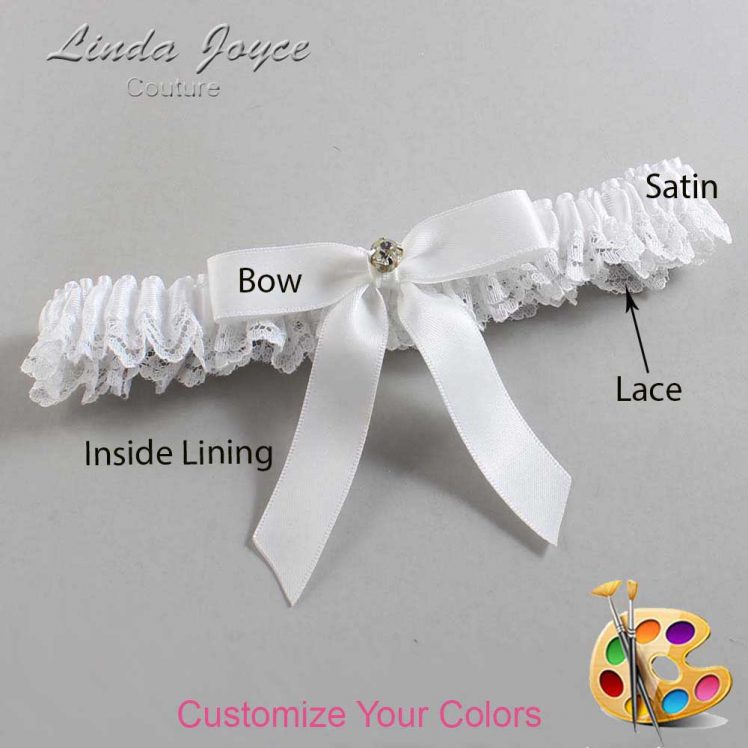 Couture Garters / Custom Wedding Garter / Customizable Wedding Garters / Personalized Wedding Garters / Jana #09-B03-M03 / Wedding Garters / Bridal Garter / Prom Garter / Linda Joyce Couture
