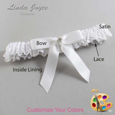 Couture Garters / Custom Wedding Garter / Customizable Wedding Garters / Personalized Wedding Garters / Jana #09-B03-M04 / Wedding Garters / Bridal Garter / Prom Garter / Linda Joyce Couture