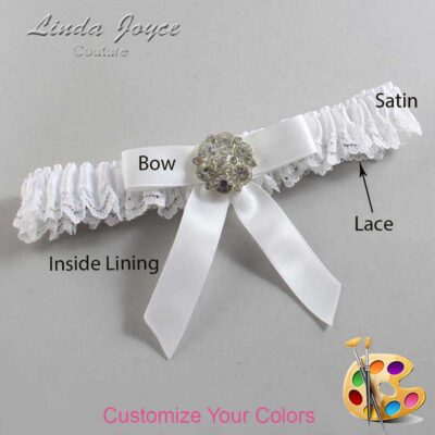 Customizable Wedding Garter / Alicia #09-B03-M11-Silver