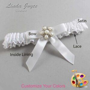 Couture Garters / Custom Wedding Garter / Customizable Wedding Garters / Personalized Wedding Garters / Natalie #09-B03-M13 / Wedding Garters / Bridal Garter / Prom Garter / Linda Joyce Couture