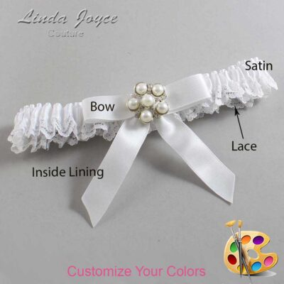 Couture Garters / Custom Wedding Garter / Customizable Wedding Garters / Personalized Wedding Garters / Natalie #09-B03-M13 / Wedding Garters / Bridal Garter / Prom Garter / Linda Joyce Couture