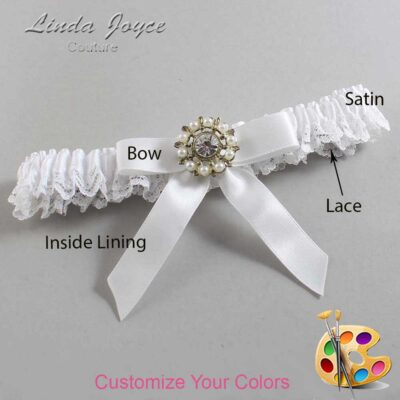 Couture Garters / Custom Wedding Garter / Customizable Wedding Garters / Personalized Wedding Garters / Caroline #09-B03-M14 / Wedding Garters / Bridal Garter / Prom Garter / Linda Joyce Couture