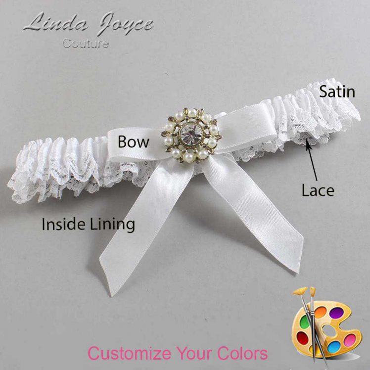 Couture Garters / Custom Wedding Garter / Customizable Wedding Garters / Personalized Wedding Garters / Caroline #09-B03-M14 / Wedding Garters / Bridal Garter / Prom Garter / Linda Joyce Couture