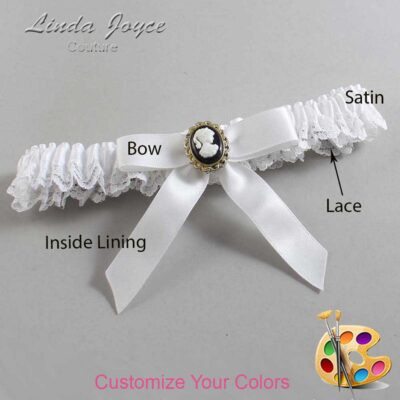 Couture Garters / Custom Wedding Garter / Customizable Wedding Garters / Personalized Wedding Garters / Dinah #09-B03-M15 / Wedding Garters / Bridal Garter / Prom Garter / Linda Joyce Couture