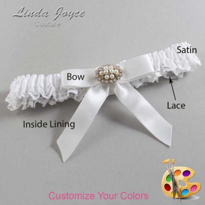 Couture Garters / Custom Wedding Garter / Customizable Wedding Garters / Personalized Wedding Garters / Daryl #09-B03-M16 / Wedding Garters / Bridal Garter / Prom Garter / Linda Joyce Couture