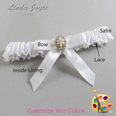 Customizable Wedding Garter / Jenny #09-B03-M17-Gold
