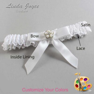 Couture Garters / Custom Wedding Garter / Customizable Wedding Garters / Personalized Wedding Garters / Amelia #09-B03-M20 / Wedding Garters / Bridal Garter / Prom Garter / Linda Joyce Couture