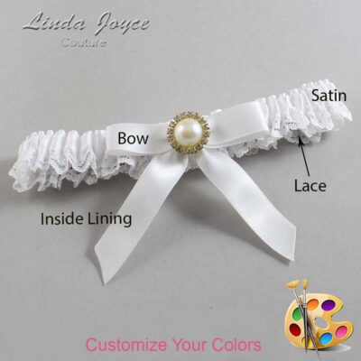 Couture Garters / Custom Wedding Garter / Customizable Wedding Garters / Personalized Wedding Garters / Doreen #09-B03-M21 / Wedding Garters / Bridal Garter / Prom Garter / Linda Joyce Couture