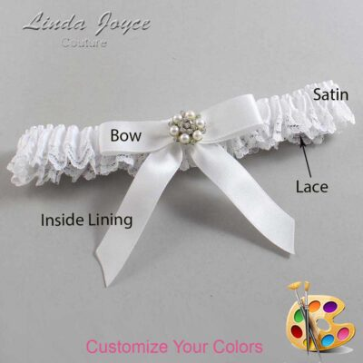 Couture Garters / Custom Wedding Garter / Customizable Wedding Garters / Personalized Wedding Garters / Kayla #09-B03-M23 / Wedding Garters / Bridal Garter / Prom Garter / Linda Joyce Couture