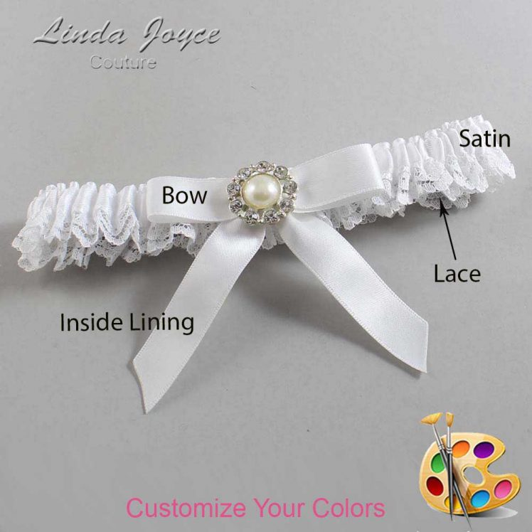Couture Garters / Custom Wedding Garter / Customizable Wedding Garters / Personalized Wedding Garters / Katherine #09-B03-M24 / Wedding Garters / Bridal Garter / Prom Garter / Linda Joyce Couture