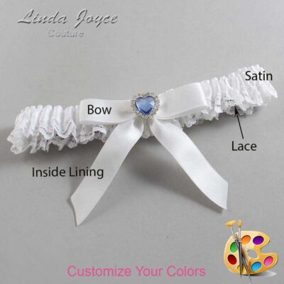 Couture Garters / Custom Wedding Garter / Customizable Wedding Garters / Personalized Wedding Garters / Gina #09-B03-M25 / Wedding Garters / Bridal Garter / Prom Garter / Linda Joyce Couture