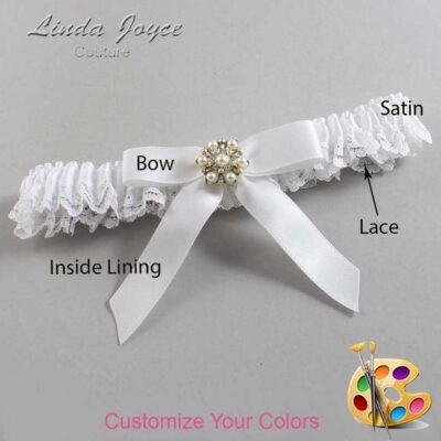 Couture Garters / Custom Wedding Garter / Customizable Wedding Garters / Personalized Wedding Garters / Carolee #09-B03-M27 / Wedding Garters / Bridal Garter / Prom Garter / Linda Joyce Couture